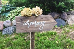bachelorette sip and dab and create this wedding sign in Traverse City at painting class