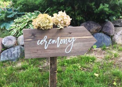 Outdoor Signs for weddings