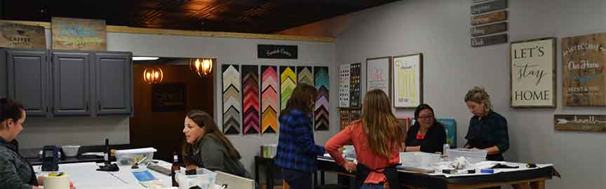 Private Party Venue in Traverse City Michigan or event center for corporate events. Wood art painting classes and instruction. Public art classes available in our studio for painting.