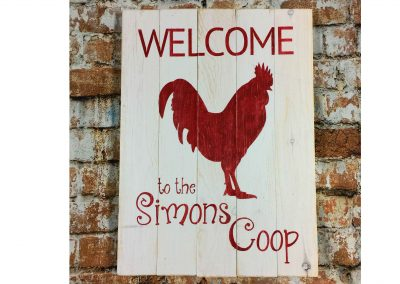 Welcome to the coop rooster is not a canvas sip and paint class, this wine and paint workshop is DIY wood sign
