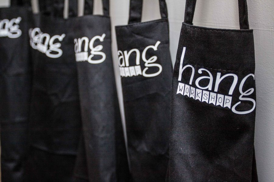 Aprons greet our guests as they arrive