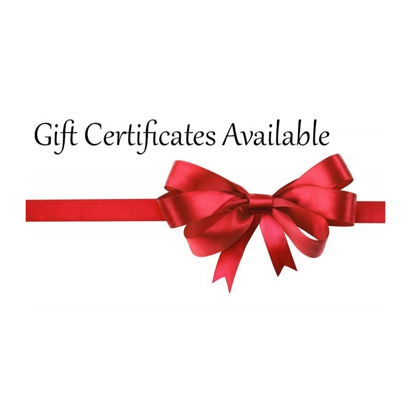 Gift certificates available for any workshop on any date ...