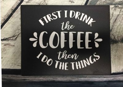 Coffee then I do the things