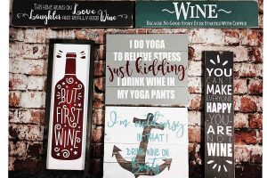 sip and paint and dab party size wood art sign for painting classes