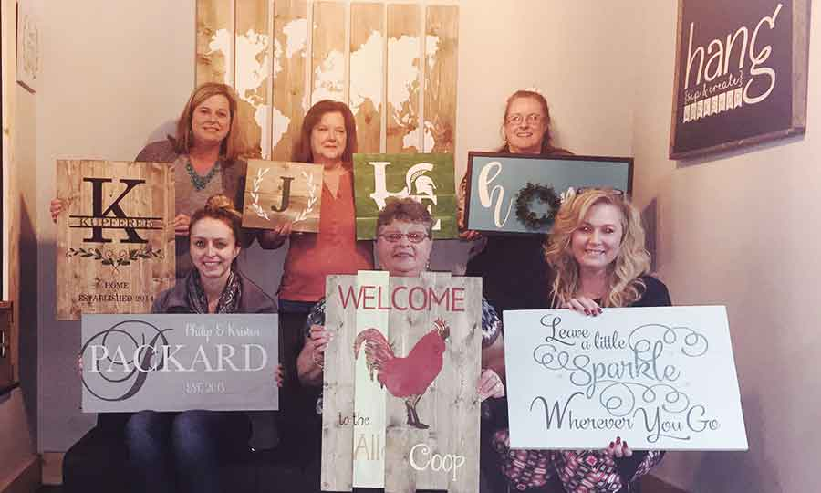 Private party event in Traverse City- Painting Class for Dawn's group