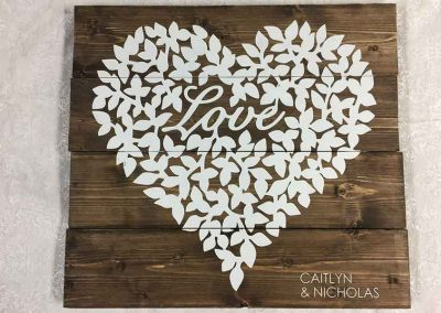 painting class for wood wedding sign