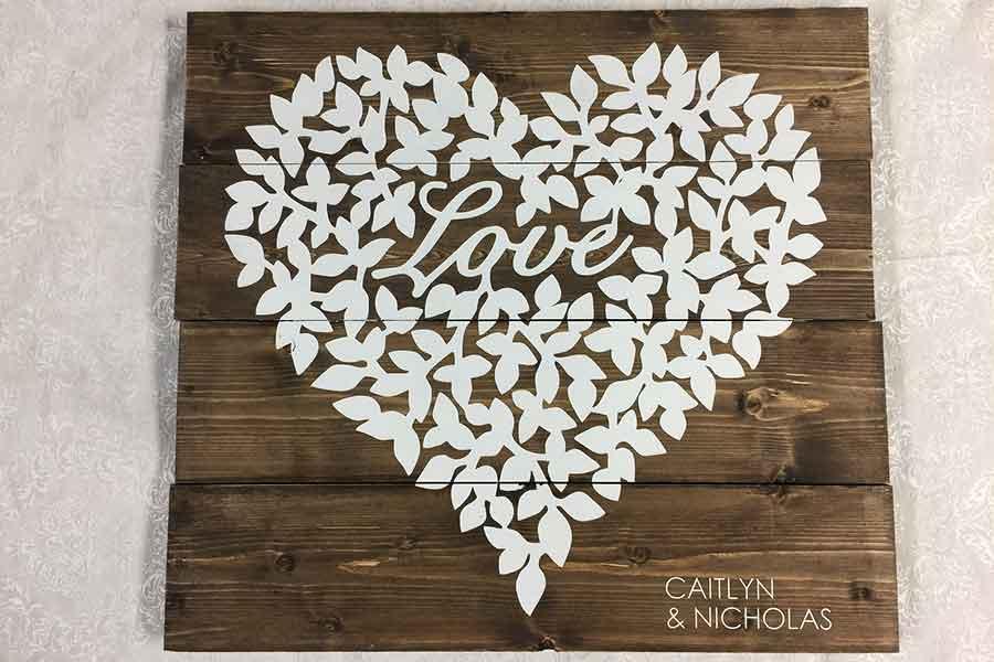 Love leaf heart