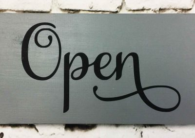 Open and Closed sign -July