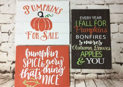 2017 Fall medium sign designs