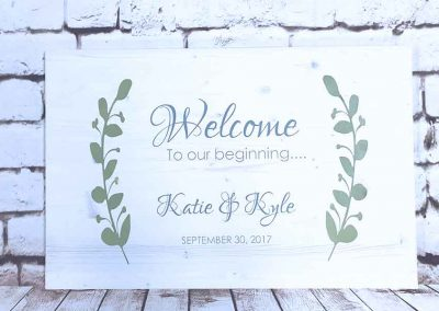bachelorette or bridal signs DIY