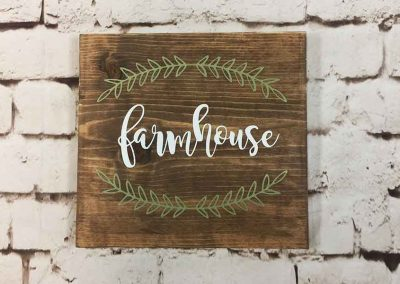 farmhouse small sign