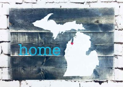 Michigan home large sign