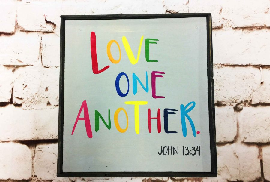 Love One Another Small sign
