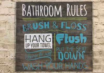 New Bathroom Rules Sign