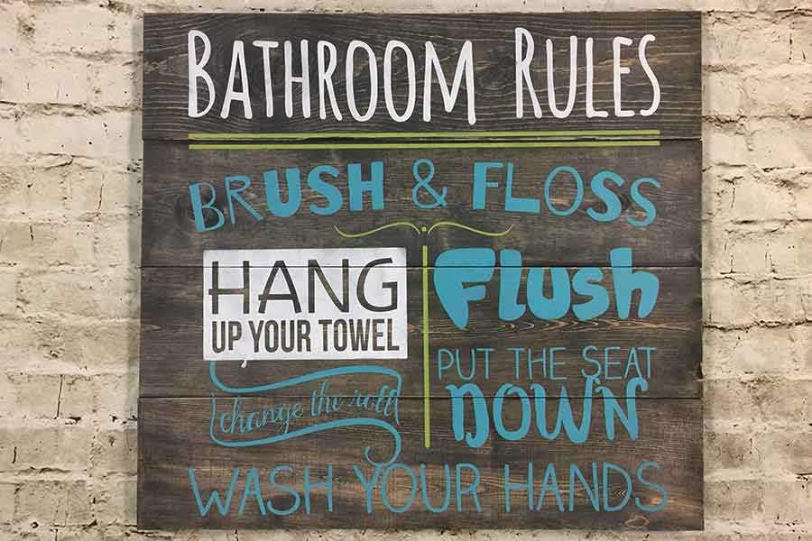 Public Class For Any Size Sign At Hang Workshops Event Center