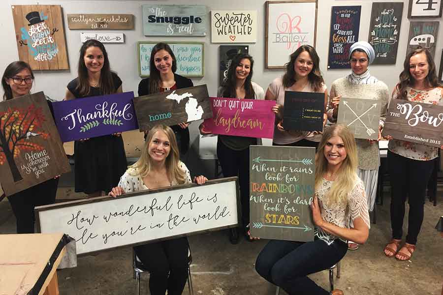Private Event organized by Carrie-  Wood Sign Event