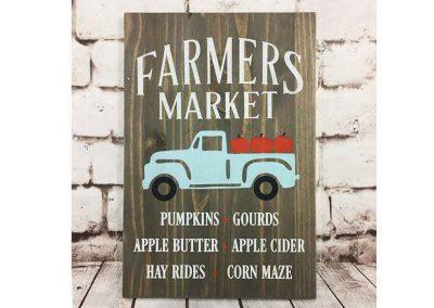 Farmers market blue truck