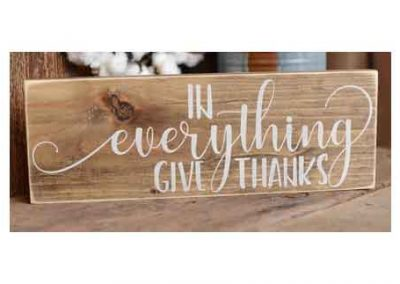In everything give thanks sign from etsy