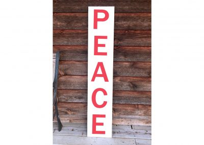 Peace porch sign