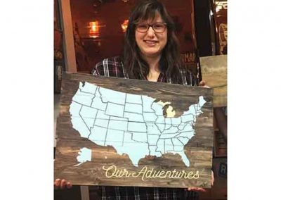 wood sign painting workshop