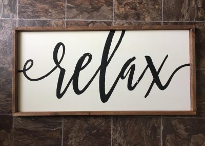 relax bathroom sign 10