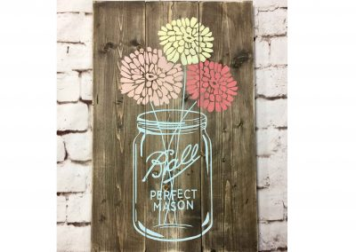 Wood sign painting parties and events