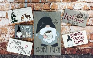 Gnome wood sign painting classes