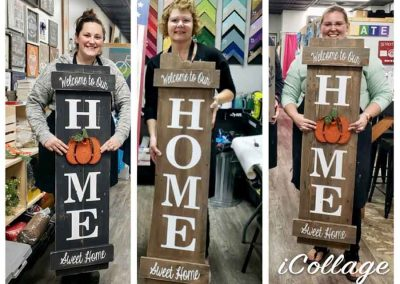 Interchangeable shape wood sign classes