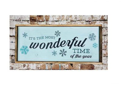 Most wonderful time 16x36