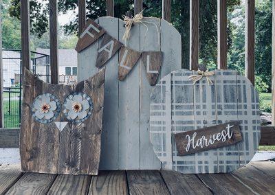 Porch sitter and Door hanger Workshops