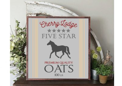 Customizable Oats horse sign