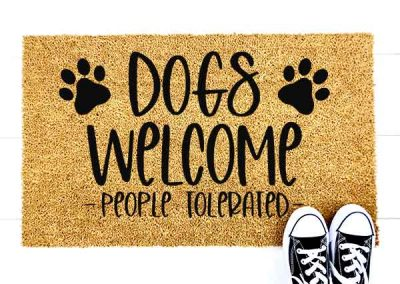 Dogs Welcome- people tolerated