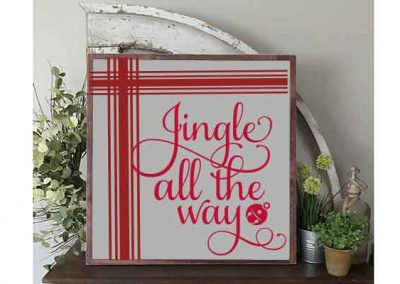 Jingle all the way large sign