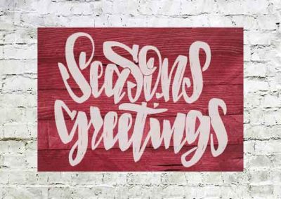 Season's Greetings Red sign large