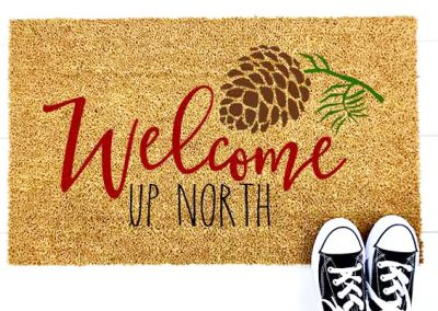 Welcome Up North- Pinecone