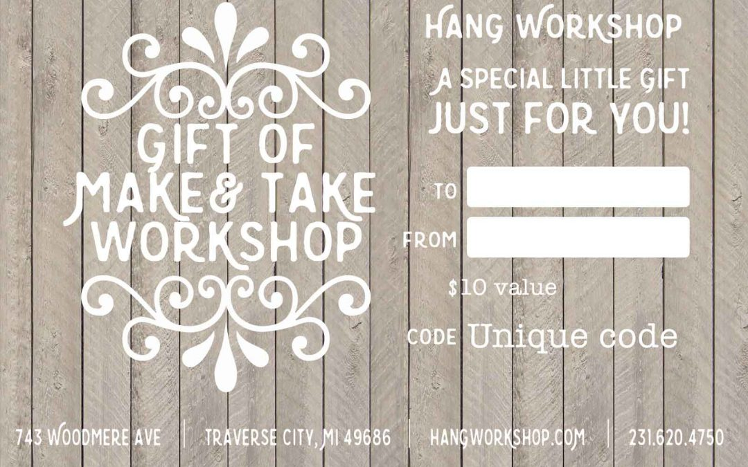 8 hour Make and Take Gift Card ON-LINE Sale Event!!