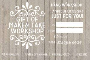 gift certificate Hang Workshop