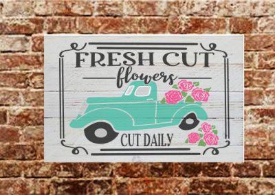 Fresh cut flower truck