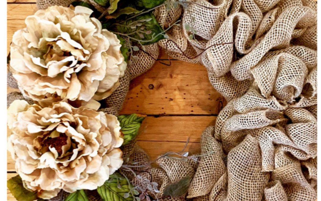 Burlap Wreath Hang Workshop