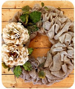 Burlap Wreath Hang Workshop