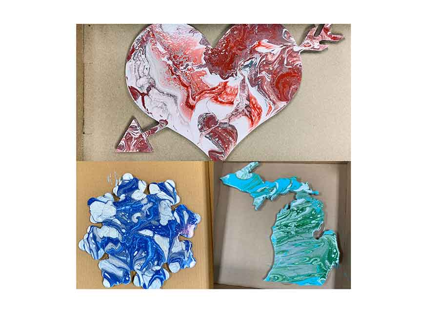 Public class for Paint Pour- Heart, Snowflake or Upper and lower Michigan