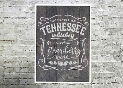 Tennessee whiskey large sign