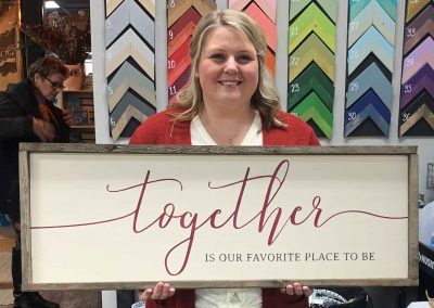 Together is our favorite place to be Large Category Sign