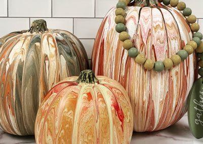 Pumpkin Paint Pour